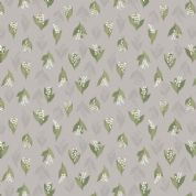 Lewis & Irene Flo's Wildflowers - 5440 - Lilly of the Valley on Pale Grey - FLO11.4 - Cotton Fabric